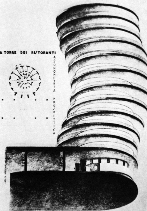 Mario Ridolfi, Restaurant Tower Project, 1928