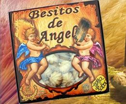 Besitos de Ángel. El Beato.    Variedades: almendra, café y nata.    Envase de 450 g.  Caja de 10 unidades.