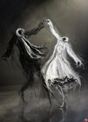 Fantazi Resimler - Fantastik Gotik Peri, Melek, Şeytan