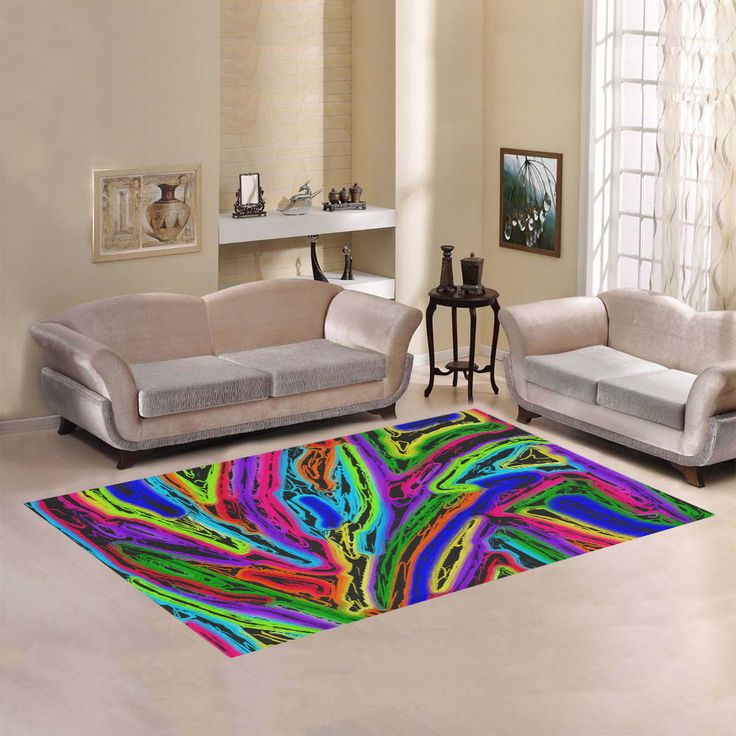 Neon Black Magic Art - 9941 Area Rug