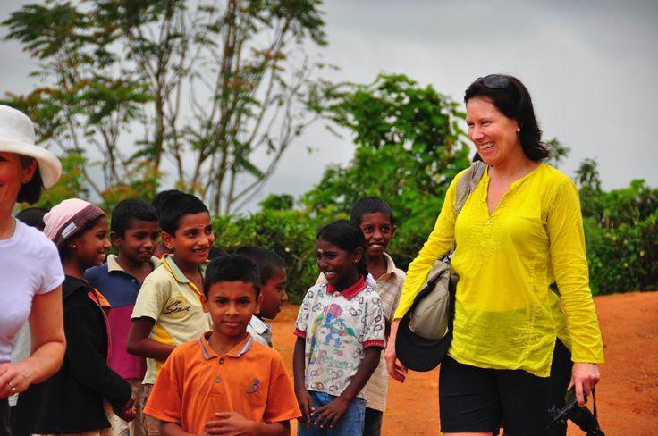 Trekking in Sri Lanka's tea fields.