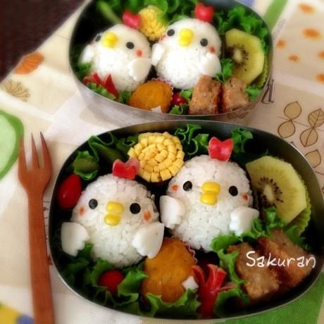 chicken bento: japanese food art #foodart #japanese