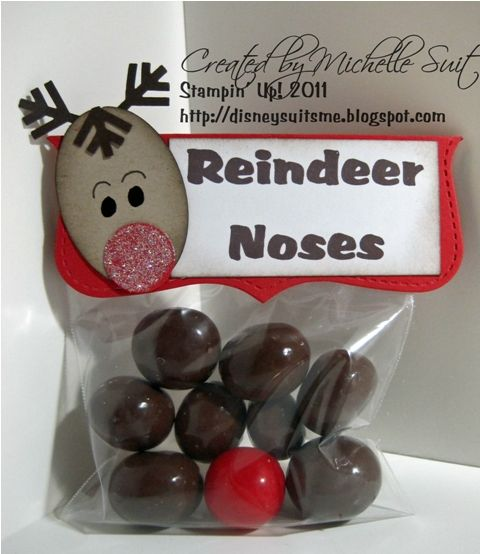 Reindeer noses: Christmas Crafts, Gifts Ideas, Sweet Treats, Suitabl Stamps, Cute Ideas, Parties Favors, Schools Treats, Paper Crafts, Reindeer Noses