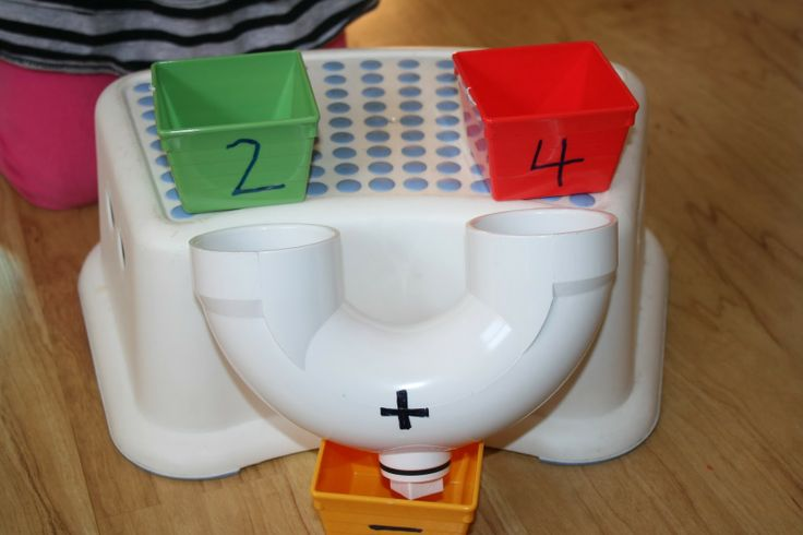 DIY addition machine! What a great way to visually see what addition means.