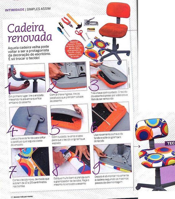 Decoração e Reciclagem: Passo a Passo Reforma de cadeira by Jessica Santin (Jehhhhh), via Flickr