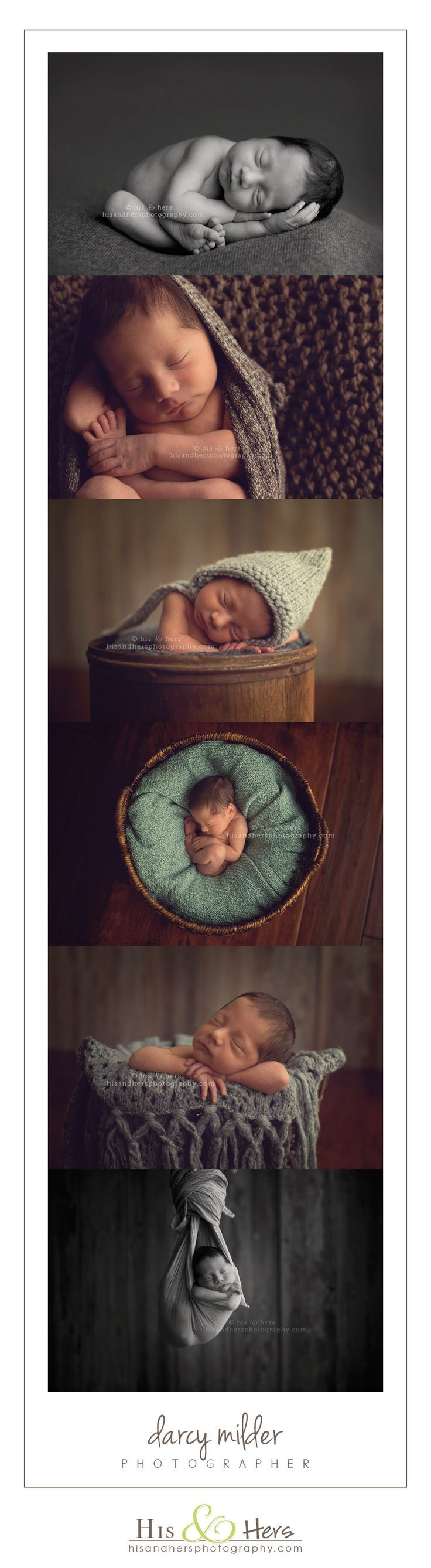 Iowa Newborn Photographer | Darcy Milder, His & Hers