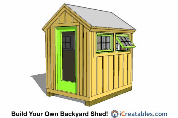 6x8 wood greenhouse shed plans