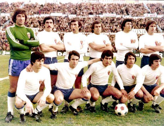 Equipos de fútbol: REAL ZARAGOZA contra Castellón 05/02/1978