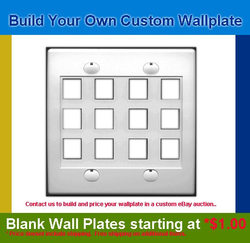 Custom Wall Plates, Fiber Optic Cables items in Ultra Spec Cables RiteAV store on eBay!