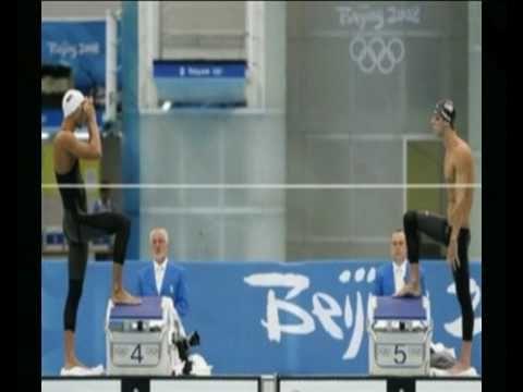 Michael Phelps vs. Milorad Cavic - 100m fly Beijing 2008 - The Baltimore Shark Legend!!