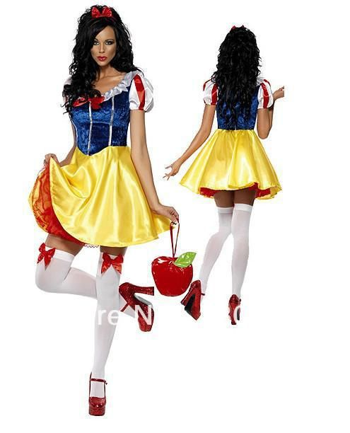 Aliexpress.com : Buy Plus Size Snow White Lolita Costumes For Women 2013 Sexy Zentai Halloween Cosplay Carnival Party Dress Accessories SN013 from Reliable cosplay costume suppliers on C  F Halloween Fashion Store $18.99