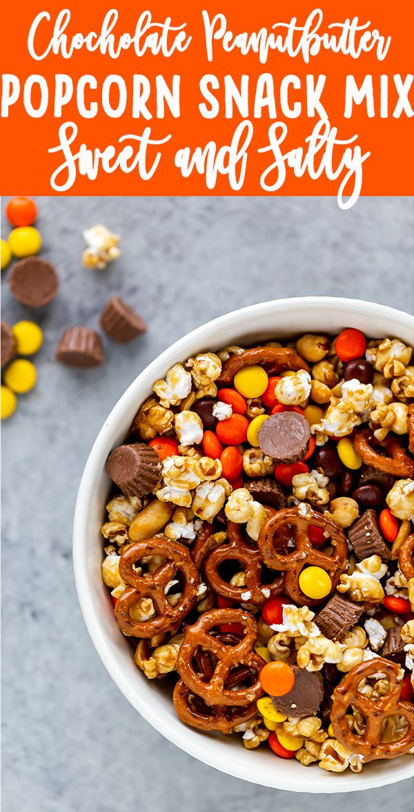 Sweet And Salty Popcorn Snack Mix Recipe Sweet Treats Snack Mix Recipes Snacks Sweet Salty