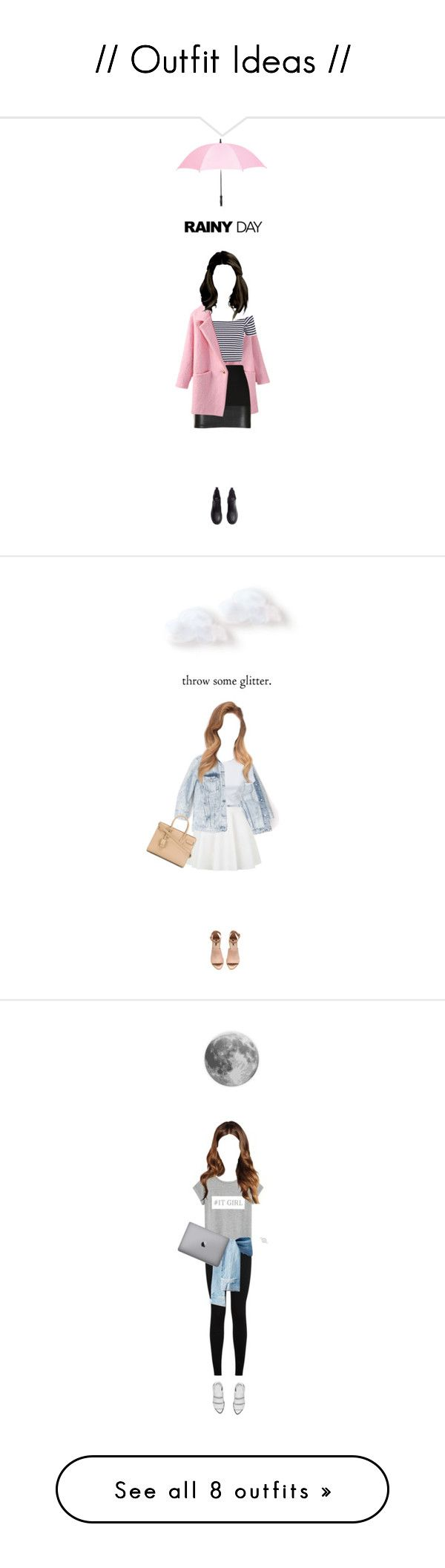 """""""// Outfit Ideas //"""" by demigeorgia ❤ liked on Polyvore featuring Mode, Leighton, Bailey 44, H&M, AQ/AQ, Topshop, Yves Saint Laurent, MANGO, Alexander Wang und Skagen"""