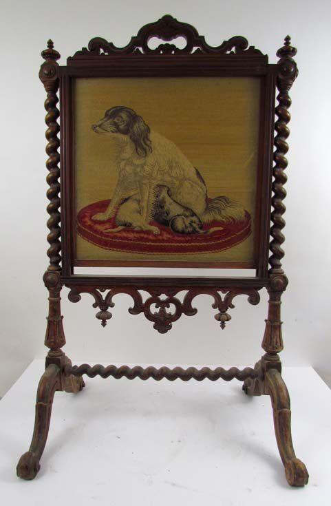 Framed Needlepoint Picture of Setter Dog