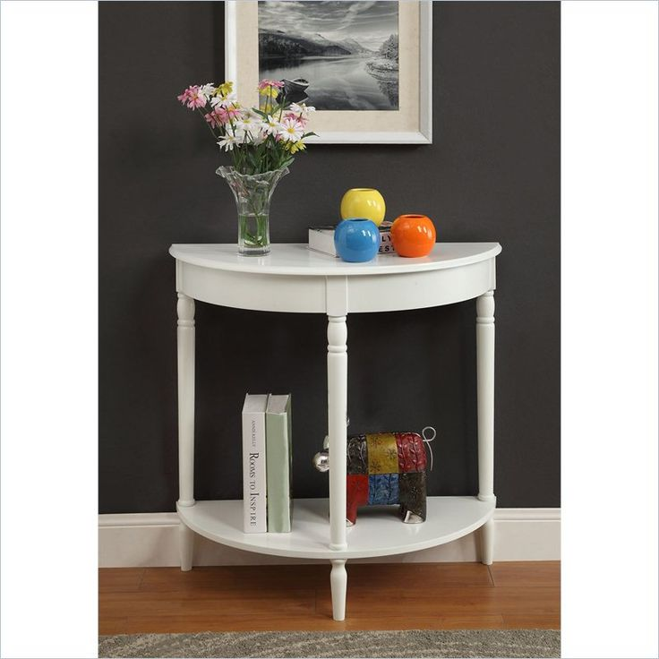 French Country Entryway Table - White -