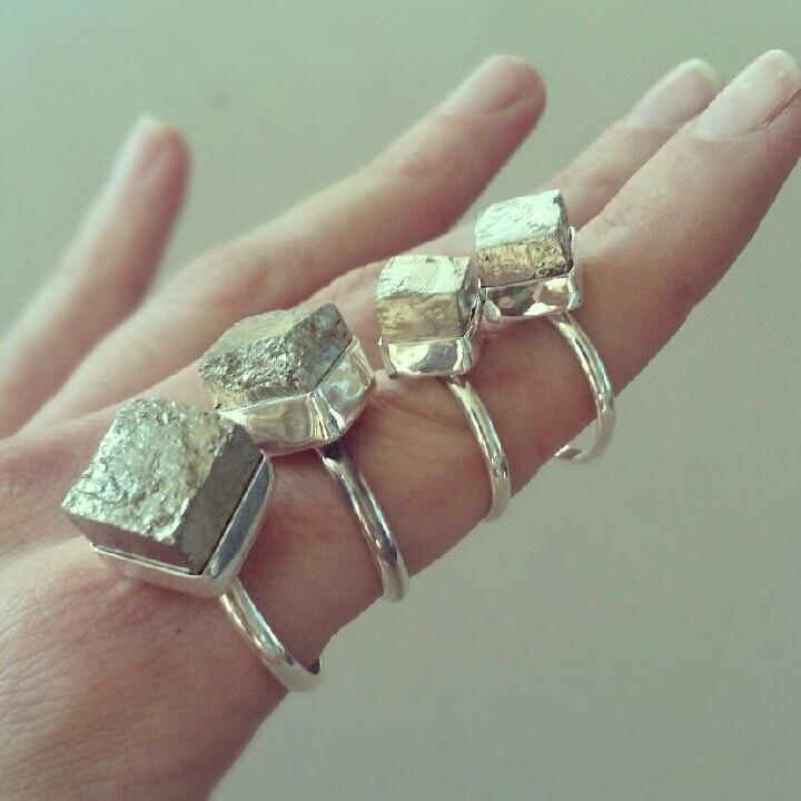 Pyrite Cube Rings.