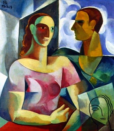 Adalgisa e o Artista 1930 - Ismael Nery Coleção Nemirowsky http://sergiozeiger.tumblr.com/post/99567187118/ismael-nery-belem-do-para-9-de-outubro-de-1900
