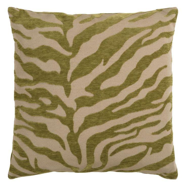 Surya Zebra Decorative Pillow - Avocado