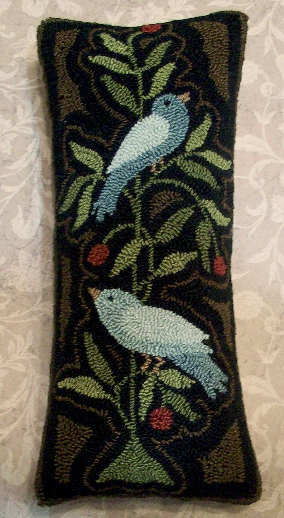 I really need to learn how to do this. So many really wonderful patterns out there. Primitive Needle Punch PATTERN 2 Blue Birds On A by thetalkingcrow