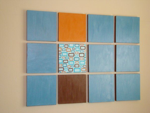 check out this post on how to create your own wall art using Mod Podge