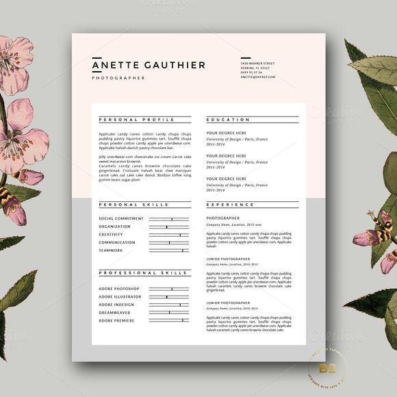 resume design cv template for word