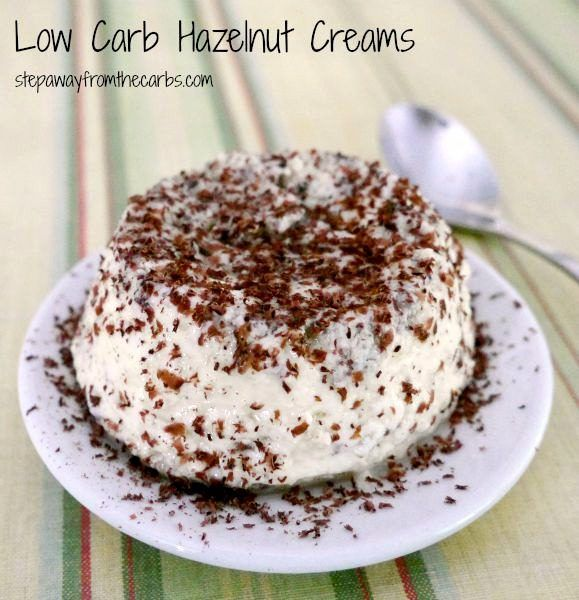 Low Carb Hazelnut Creams - sugar free dessert recipe