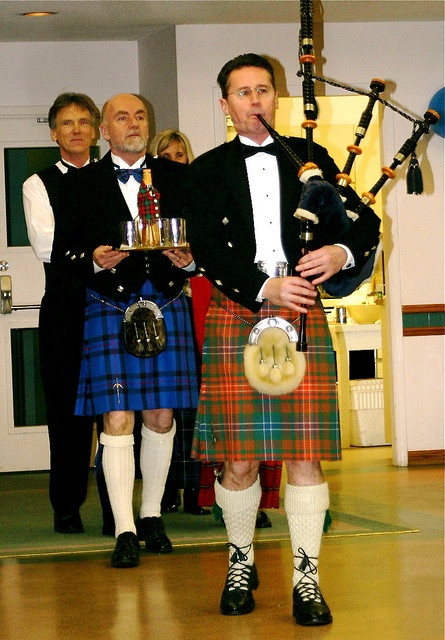 piping in the Scotch on Robbie Burns day