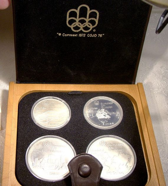 1976 Canada Olympic Sterling Silver 4 Coin by FionaKennyAntiques