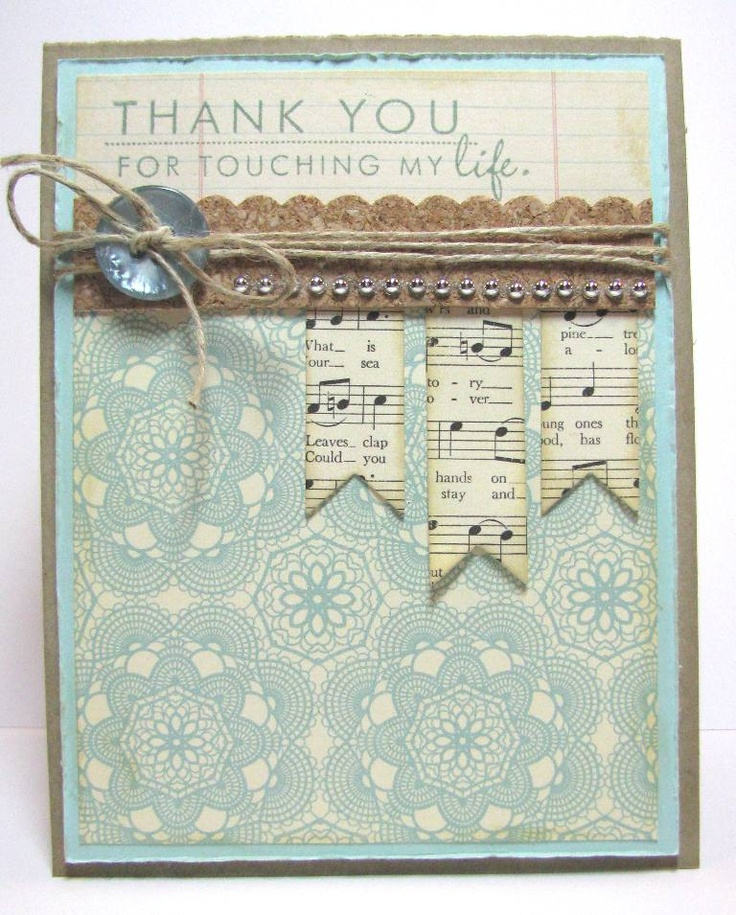 Sky blue & Kraft, use happy birthday to you musical paper for a birthday card: Sky Blue, Crafts Cards, Music Note, Card Design, Card Making, Card Ideas, Music Sheet, Cards Thank