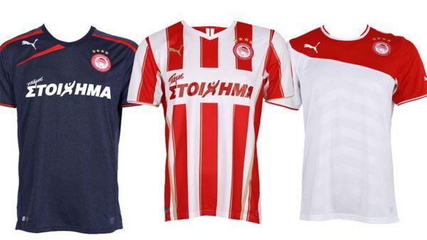 Camisetas de UEFA Champions League 2014 2015:camiseta Olympiakos 2014 2015