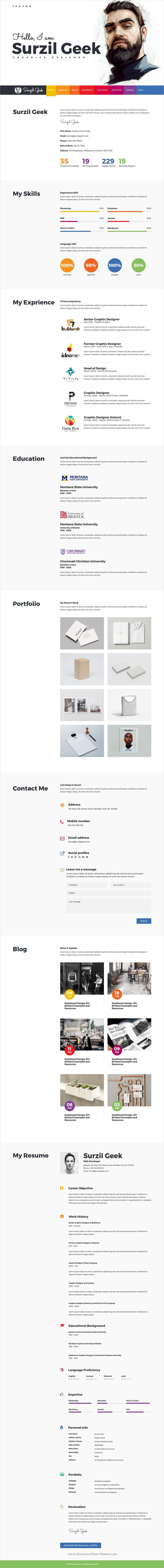 17 best ideas about perfect cv sample resume geek is a clean and modern design responsive html bootstrap template for perfect cv