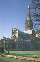 The Salisbury Cathedral in Salisbury, Eng, UK  is home to one of four of the remaining original copies of the Magna Carta (1215), and it is the best-preserved of these four copies.  It is also an absolutely gorgeous gothic church with flying buttresses and all.  This place is conveniently located about a 45min bus ride from Stonehenge.  Let's GO!!
