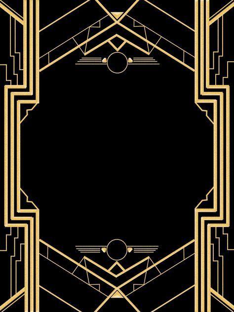Great Gatsby Invitation Templates Blank – #20s #Bl…
