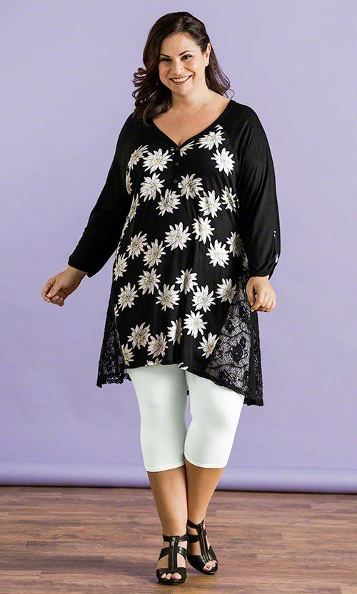 Gerbera Henley Tunic / MiB Plus Size Fashion for Women / Summer Fashion  http://www.makingitbig.com/product/5242