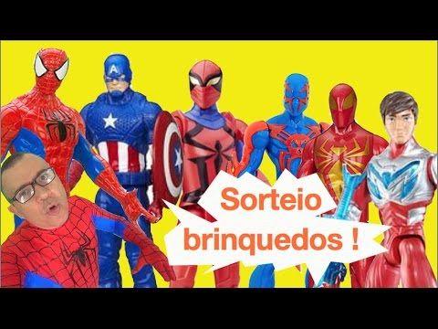 Sorteio de Brinquedos Homem Aranha Aranha de Ferro Spider-Man 2099 Capit...