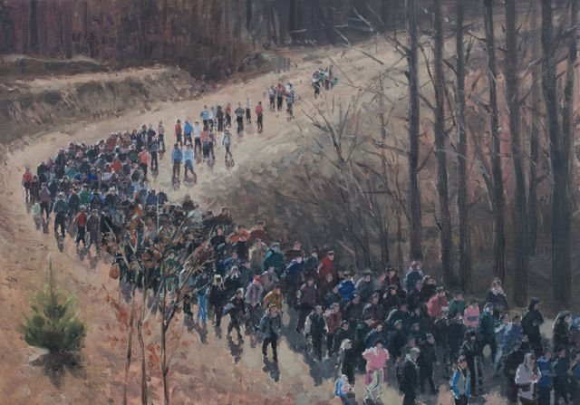 "Serban Savu, ""Procession"" (2012), 35x50 cm, oil on canvas"