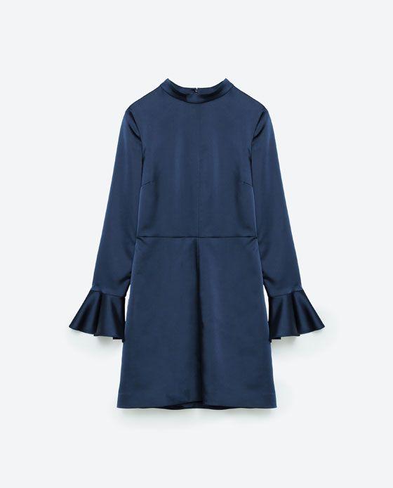 Image 6 of SATEEN OPEN BACK DRESS from Zara