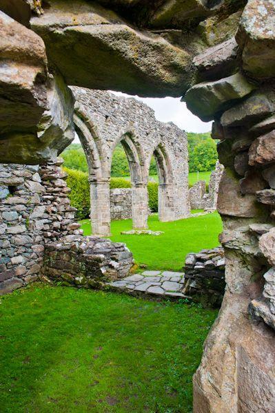 Cymer Abbey - a small abbey founded in 1198 by Maredudd ap Cynan, Meirionydd, for a group of Cistercian monks. Located in Llanelltyd, Dolgellau, Gwynedd, Wales