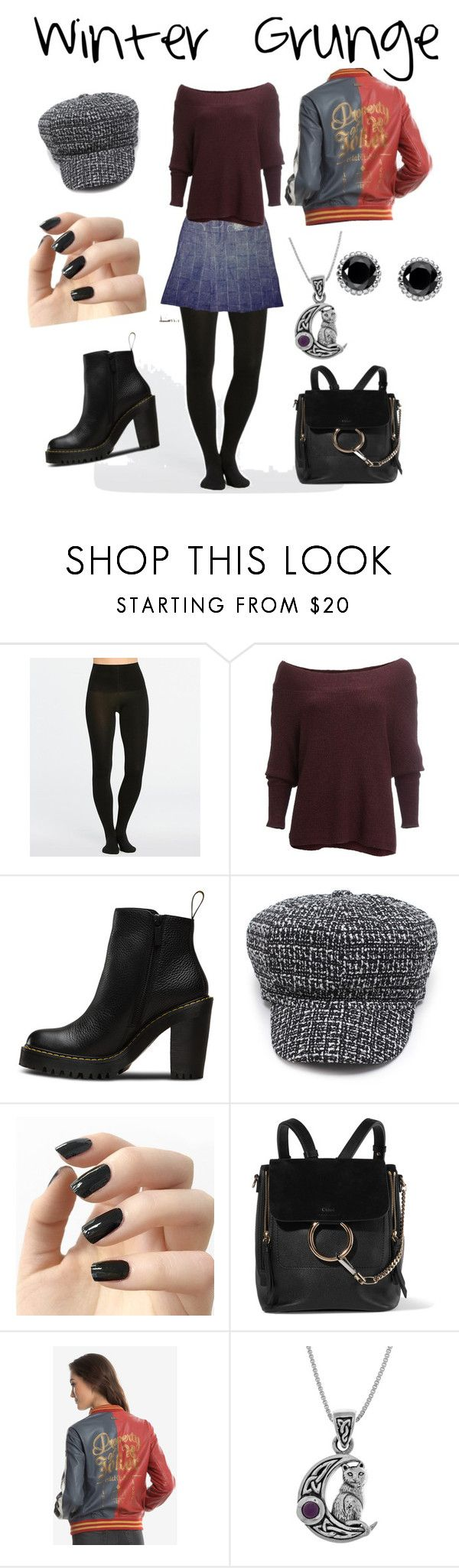 """""""Winter Grunge"""" by ross-stark on Polyvore featuring SPANX, Free People, Magdalena, Incoco, Chloé, DC Comics, Carolina Glamour Collection and Thomas Sabo"""