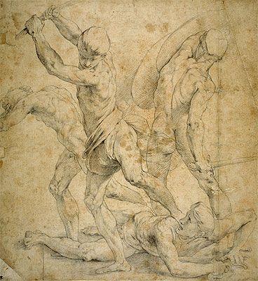 Fine Art Print / Poster - Raffaello Sanzio Raphael - Drawing for The School of Athen's