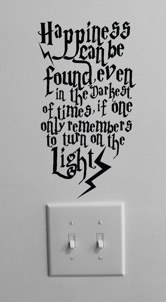 This is going in my house one day. So cool: Idea, Kids Room, Harrypotter, Hp Quote, Harry Potter, Potter Quote, Lightswitch, Dumbledore Quote
