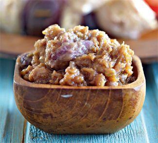 Арахисовый соус с кишмишем