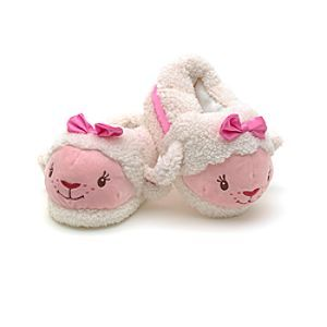 Disney Lambie Character Slippers For Kids   Disney StoreLambie Character Slippers For Kids - Keep little feet safely wrapped up in our incredibly snug Lambie slippers. Each resembles that cute lamb from Doc McStuffins and has a pink bow, a dotted sole and a fluffy fleece finish.