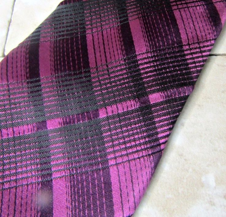 "J. Ferrar Purple Black Designer Men's Silk Neck Tie Narrow Tie 2 3/4"" Ships Free #JFerrar"