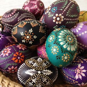 Lithuanian Easter decorated eggs: