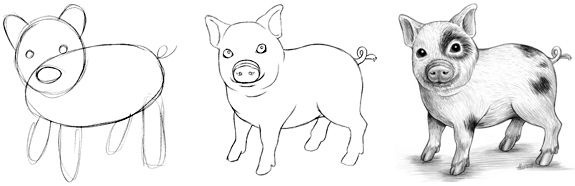 Easy Line Drawings Of Animals : Best images about animals on pinterest