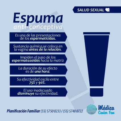 Dentro de los espermicidas, encontramos las espumas. http://www.medicacenterfem.com/metodos-anticonceptivos/otro/espermicidas/