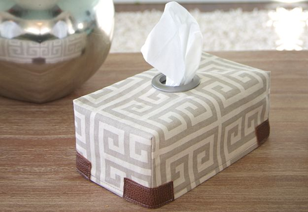 Cheap DIY Sewing Projects for the Home - Tissue Box Cover DIY Sewing Tutorial - DIY Projects & Crafts by DIY JOY