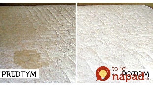 Čisté a hygienické prostredie je pre zdravý spánok veľmi dôležité. Dnes vám ukážeme, ako vyčistiť matrace rýchlo, jednoducho a bez drahej chémie z obchodu.