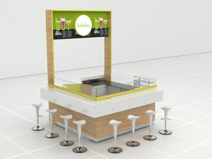 Kiosco para venta de alimentos